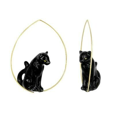 Sitting Panther Earrings