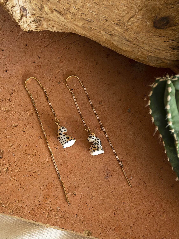 Leopard Thread Earrings