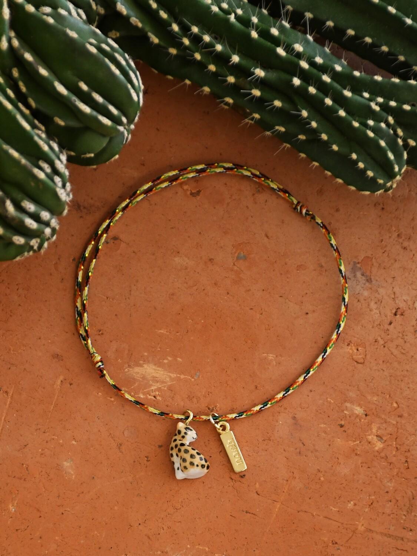 Sitting Leopard Multicolor Bracelet