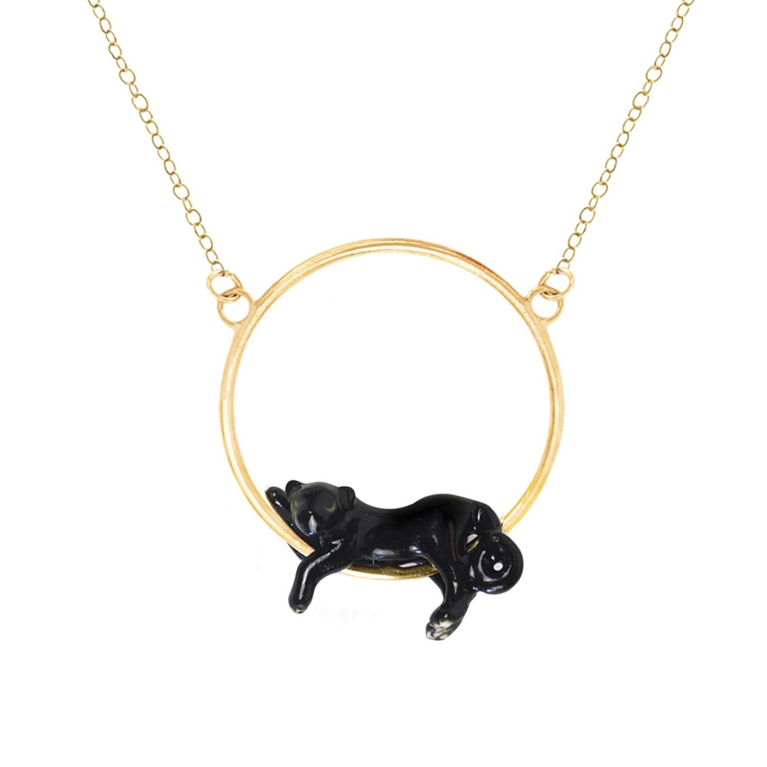 Panther Round Necklace