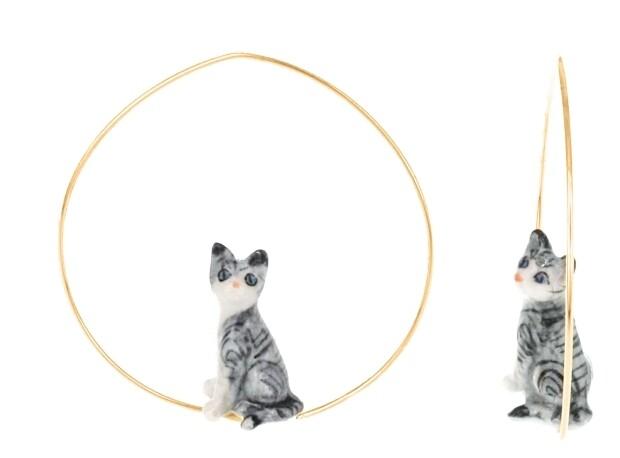 Grey Cat Hoops