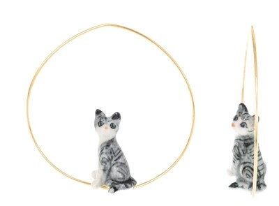 Grey Cat Hoops