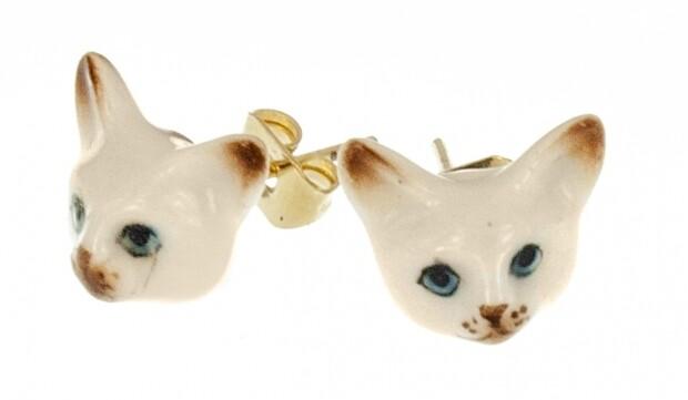 Siamese Stud Earrings