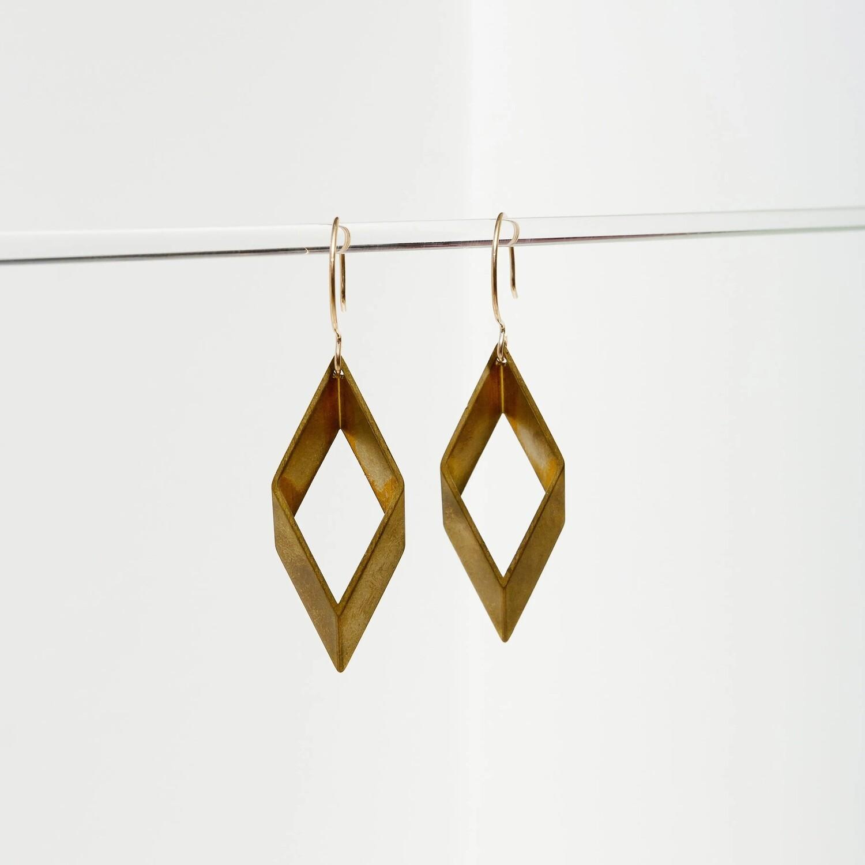 Brass Diamond Earrings