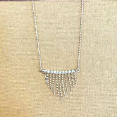 White Quartz Fringe Necklace