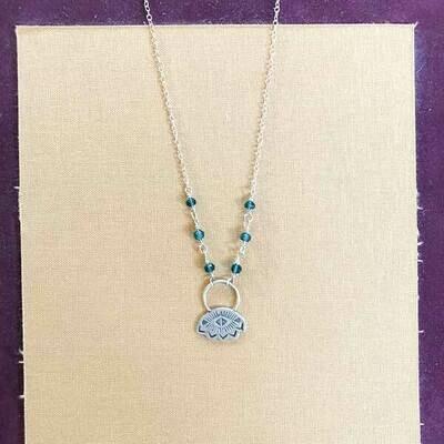 Southwest Teal Quartz Necklace