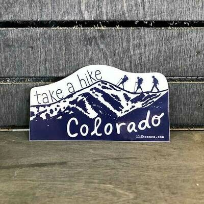 Take A Hike CO Sticker