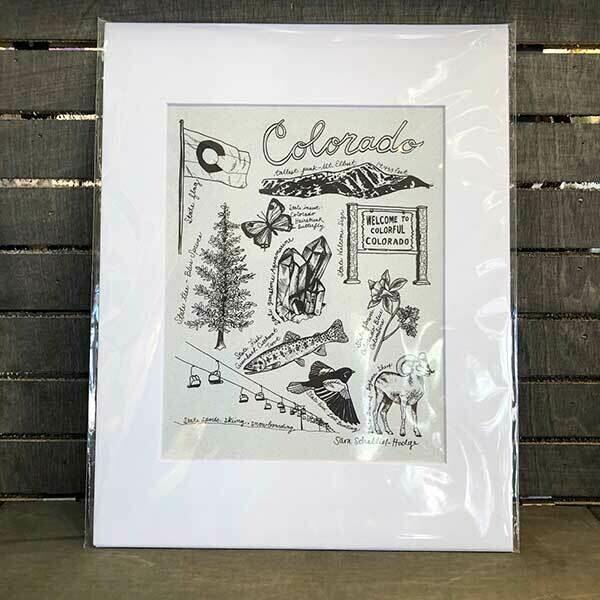 Colorado State Symbols Archival Prints