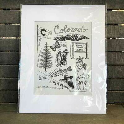 Colorado State Symbols Archival Prints