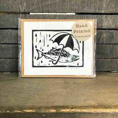 Salmon Umbrella Original Print