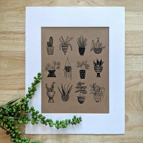 Houseplant Archival Print