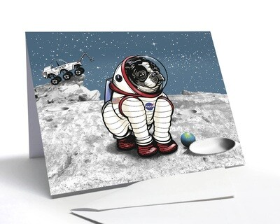 Rover The Space Dog Card