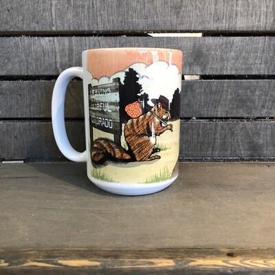 Happy Trails Squirrel Mug