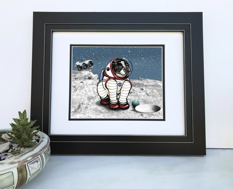 Rover The Space Dog Print