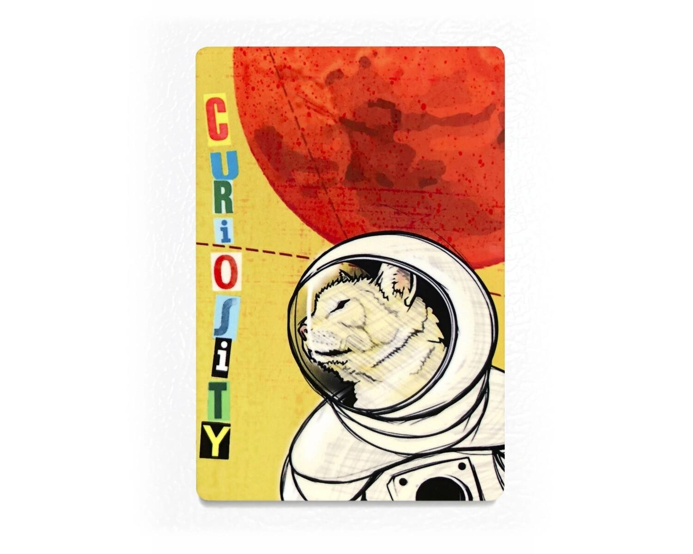 Curiosity Cat Magnet