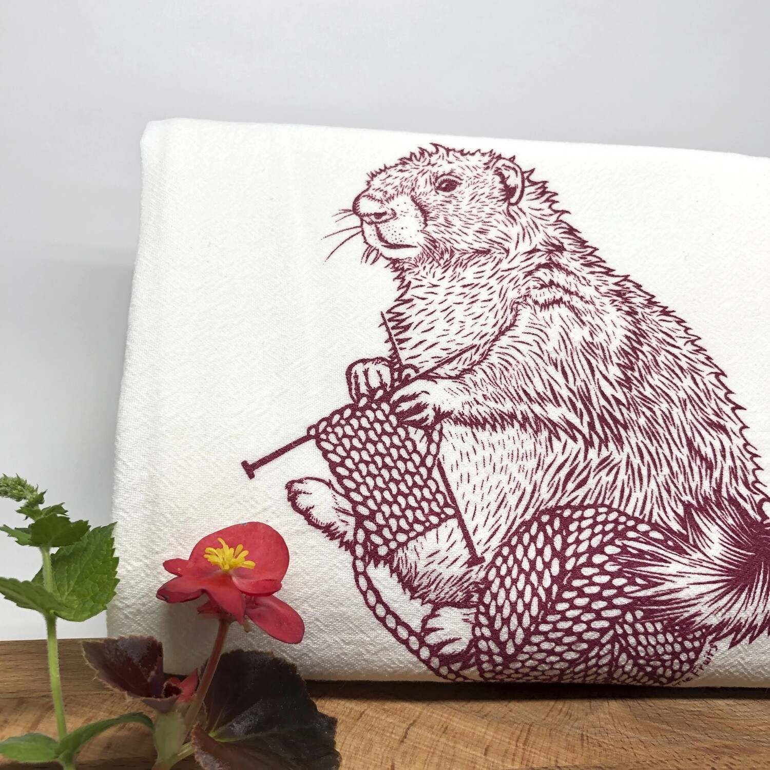 Marmot Tea Towel