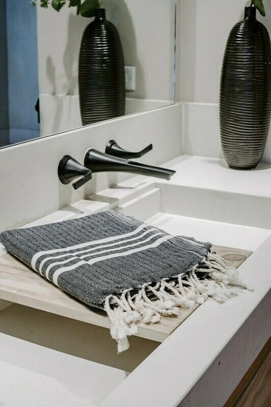 Natural Stripe Turkish Bath Towel