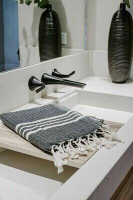 Turkish Bath Towel - Natural Stripe