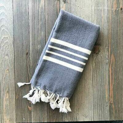 Turkish Hand Towel - Natural Stripe