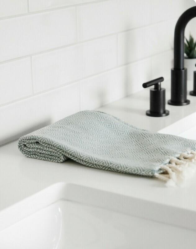 Natural Diamond Turkish Hand Towel