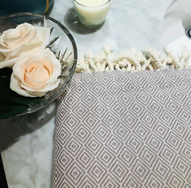 Natural Diamond Turkish Bath Towel