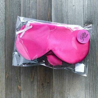 Magenta Adult Sleep Mask & Scrunchie Set