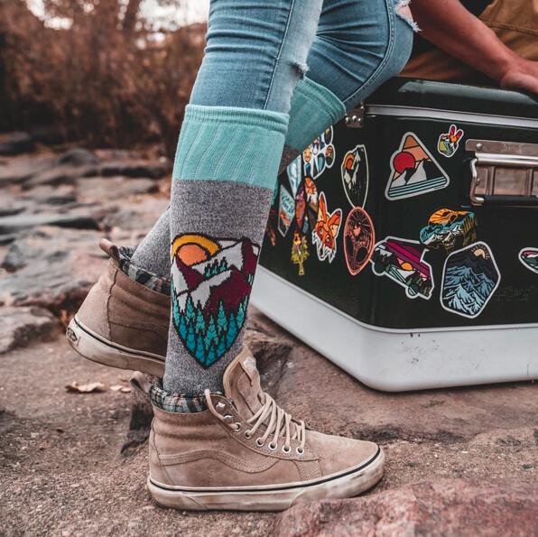 W104 Mtntop Grey Women's Sock