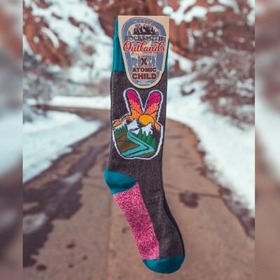 Women's Peace Hand Socks