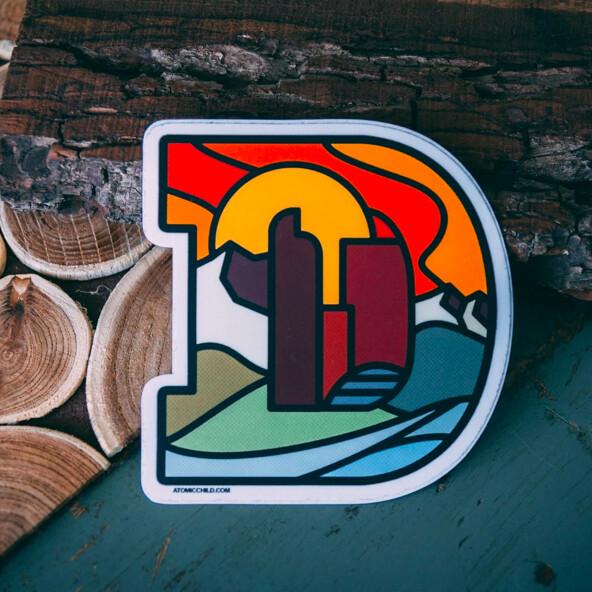 Denver D Sticker