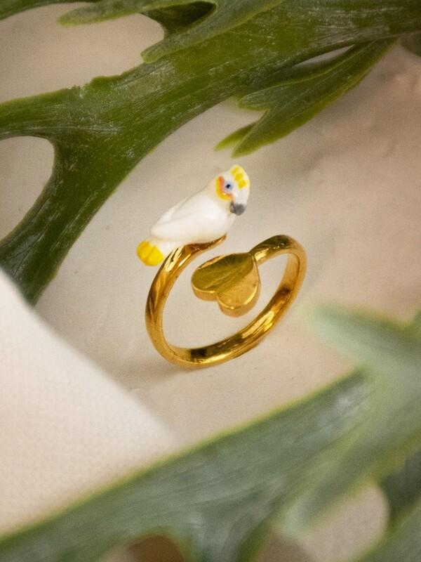 Cockatoo Heart Ring