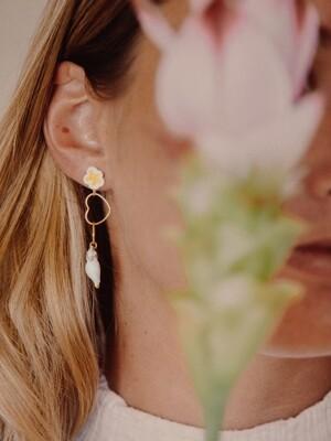 Cockatoo Heart Pendant Earrings
