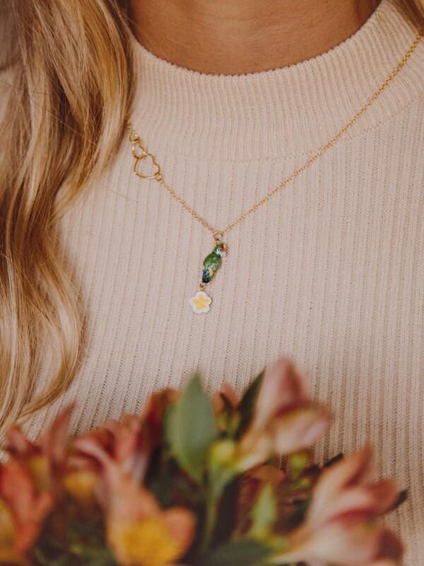 Parrot Heart Necklace