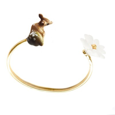 Doe & Flower Cuff Bracelet