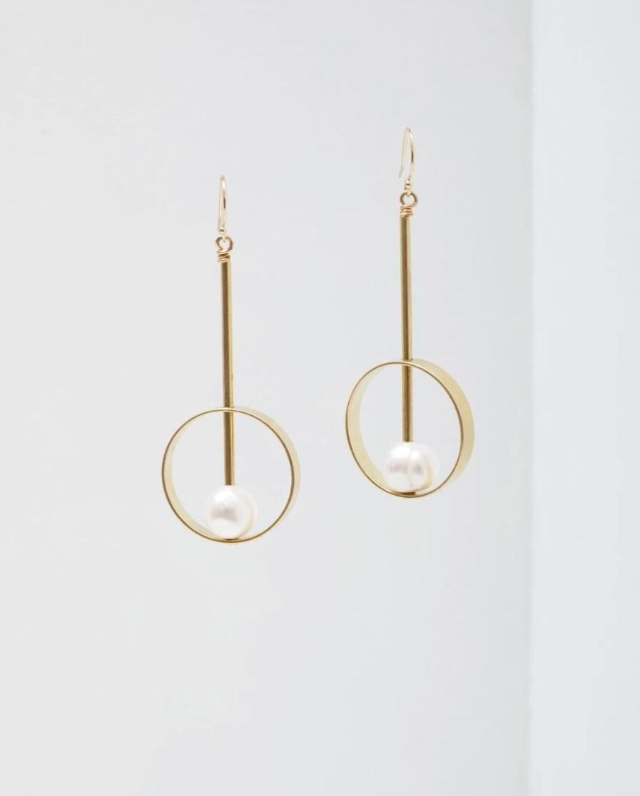 Hypatia Pearl Earrings