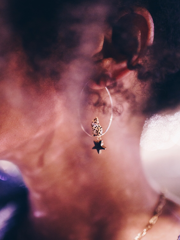 Nuit Etoilee Hoop Earrings
