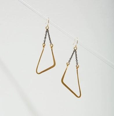 Vtg Mod Swing Earrings