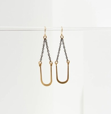 Vtg U Swing Earrings