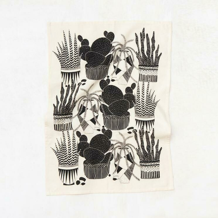 Cacti Kitchen Towel - Natural