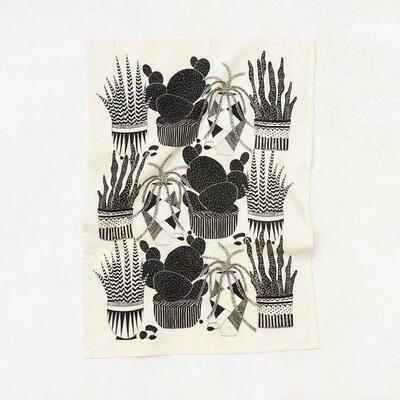 Cacti Kitchen Towel - Natural