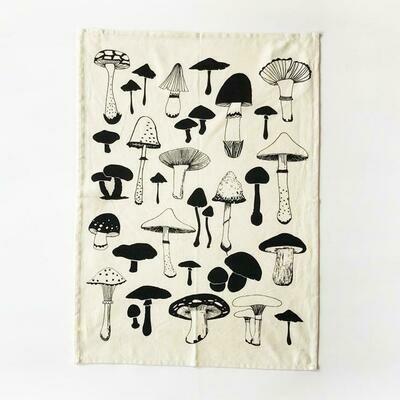 Mushrooms Kitchen Towel - Natural