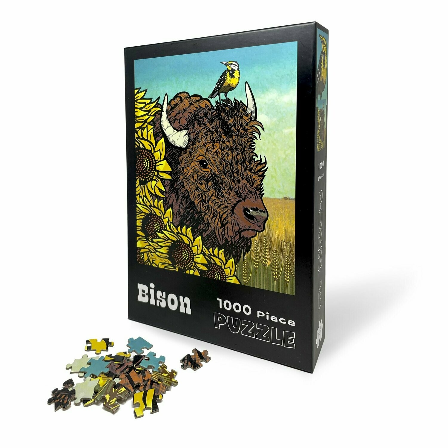 Bison and Sunflower Puzzle
