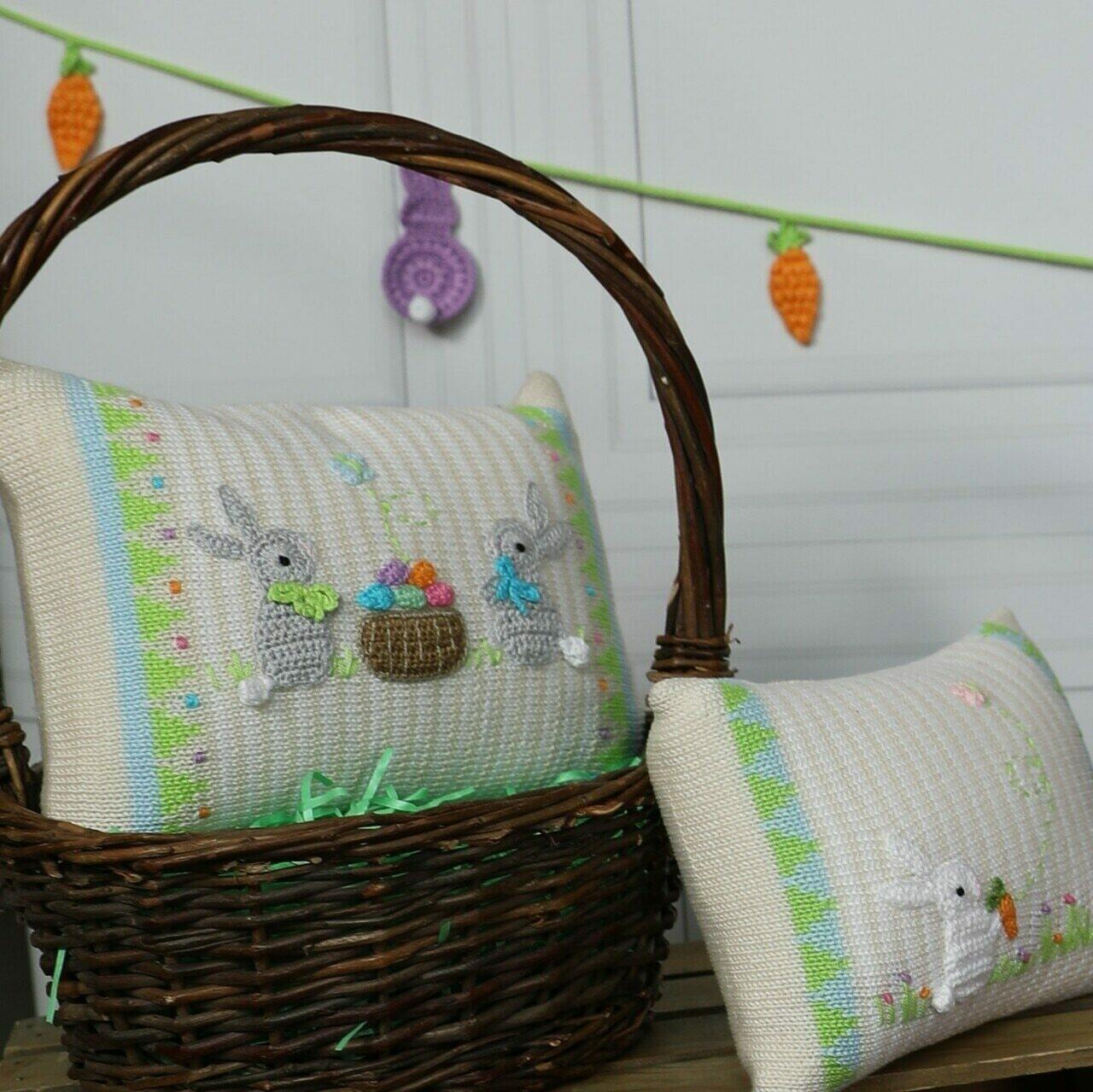 Easter Basket Pillow, 8x11