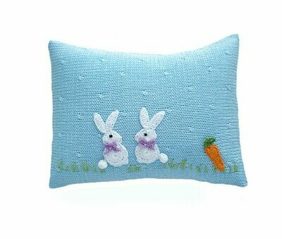Baby Bunny Pillow, blue
