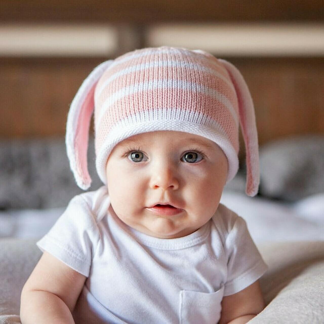 Baby Hat w Ears, pink L