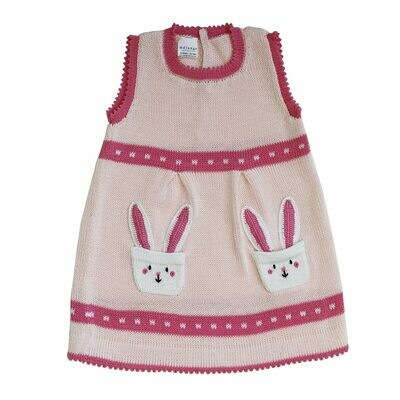 Bunny Pocket Dress, 6mon