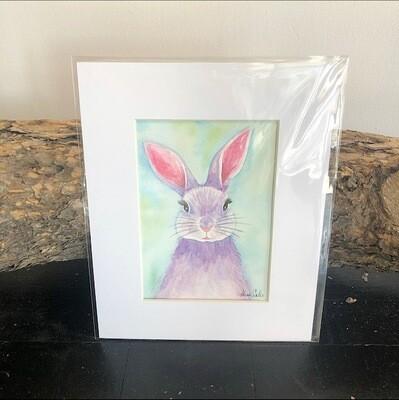 Purple Bunny 8x10