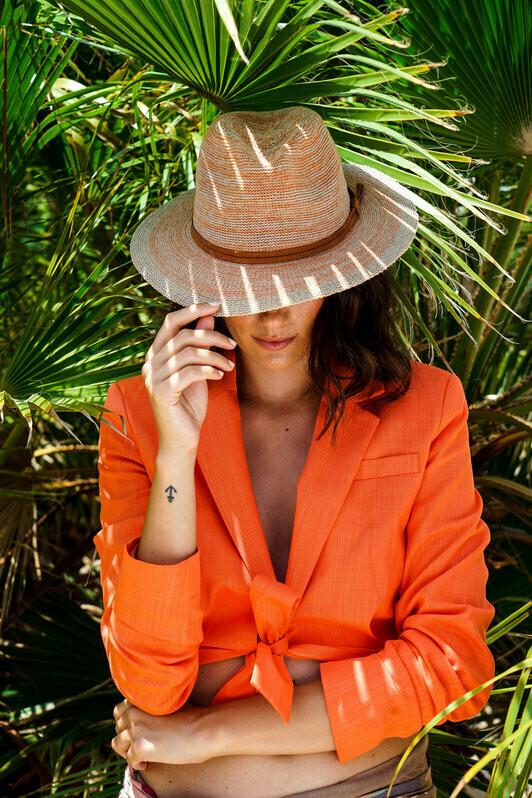 Natalie Hat Tangerine