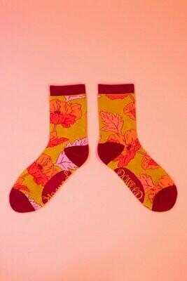 Ladies Ankle Poppy Socks
