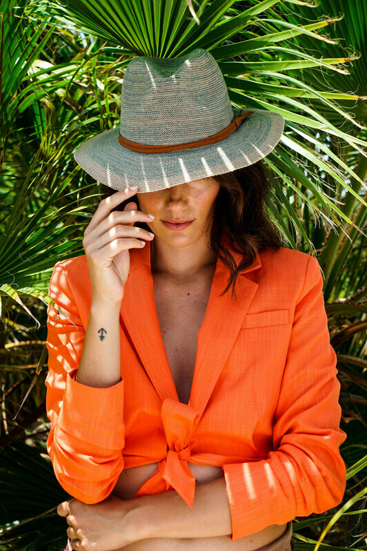 Natalie Hat Turquoise