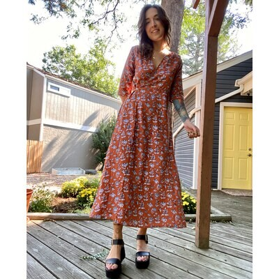 Hazelnut Floral Dress